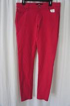 Else Pants Sz 30 Solid Cerise Pink Skinny Leg Casual Summer Outing Pants  - $34.09
