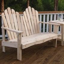 2-Seat Adirondack Style Outdoor Cedar Wood Garden Bench - $260.00
