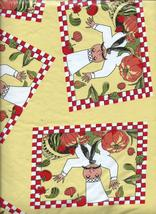 """Harvest Chef and Pumpkin 52"""" x 90"""" Oblong Vinyl Tablecloth Flannel Back - $15.99"""