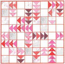 "Quilt Kit - Red Geese 65"" x 65"" Valentine's Day Hearts Quilting Kit M543.07 - $68.97"