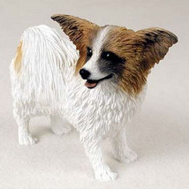 PAPILLON (BROWN) DOG Figurine Statue Hand Painted Resin Gift Pet Lovers - $16.74