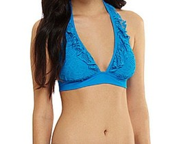 Kenneth Cole Reaction Bikini Top Sz S Azul Blue... - $18.62
