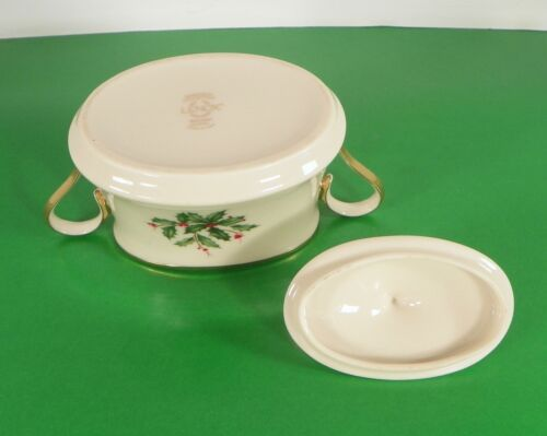 Lenox Dimension HOLIDAY Creamer and Sugar Bowl with Lid Holly Berry image 7