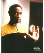 Tim Russ as Tuvok from Star Trek: Voyager in uniform with hand raised in... - $8.99