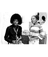 Michael Jackson King of Pop Wearing Big Hair Talking Next to Girl 8 x 10... - £5.69 GBP