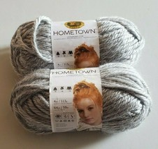 Hometown USA Yarn Springfield Silver Grey 2 New Skeins Super Bulky 4 oz each - $11.24
