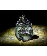 HAIZUM ARCHANGEL GABRIEL IMMORTAL WINGED HORSE Rare Jadeite Amulet izida haunted - $333.00