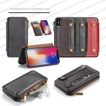 for iPhone X 2in1 Detachable PU Leather Wallet Zipper Case & Flip Stand Cover - $13.00