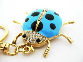 Ladybug Crystal Keychain Rhinestone Keyring Key chain ring Bag Charm Pen... - $6.00