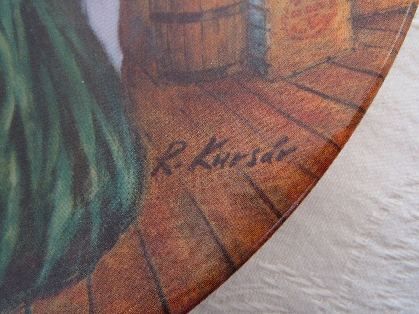Collector Plate, Gone with the Wind - Scarlett's Green Dress, Knowles China