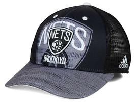 NEW NBA Brooklyn Nets Adidas Black Trucker Adjustable Cap - $5.00