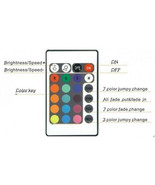Replacement: 24 Key 16 Color Ir RGB Remote Control For Controller Brain ... - $5.95