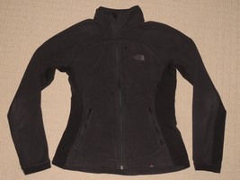 Womens The North Face Polartec Full Zip Fleece Jacket Coat Small Black 3... - $56.09