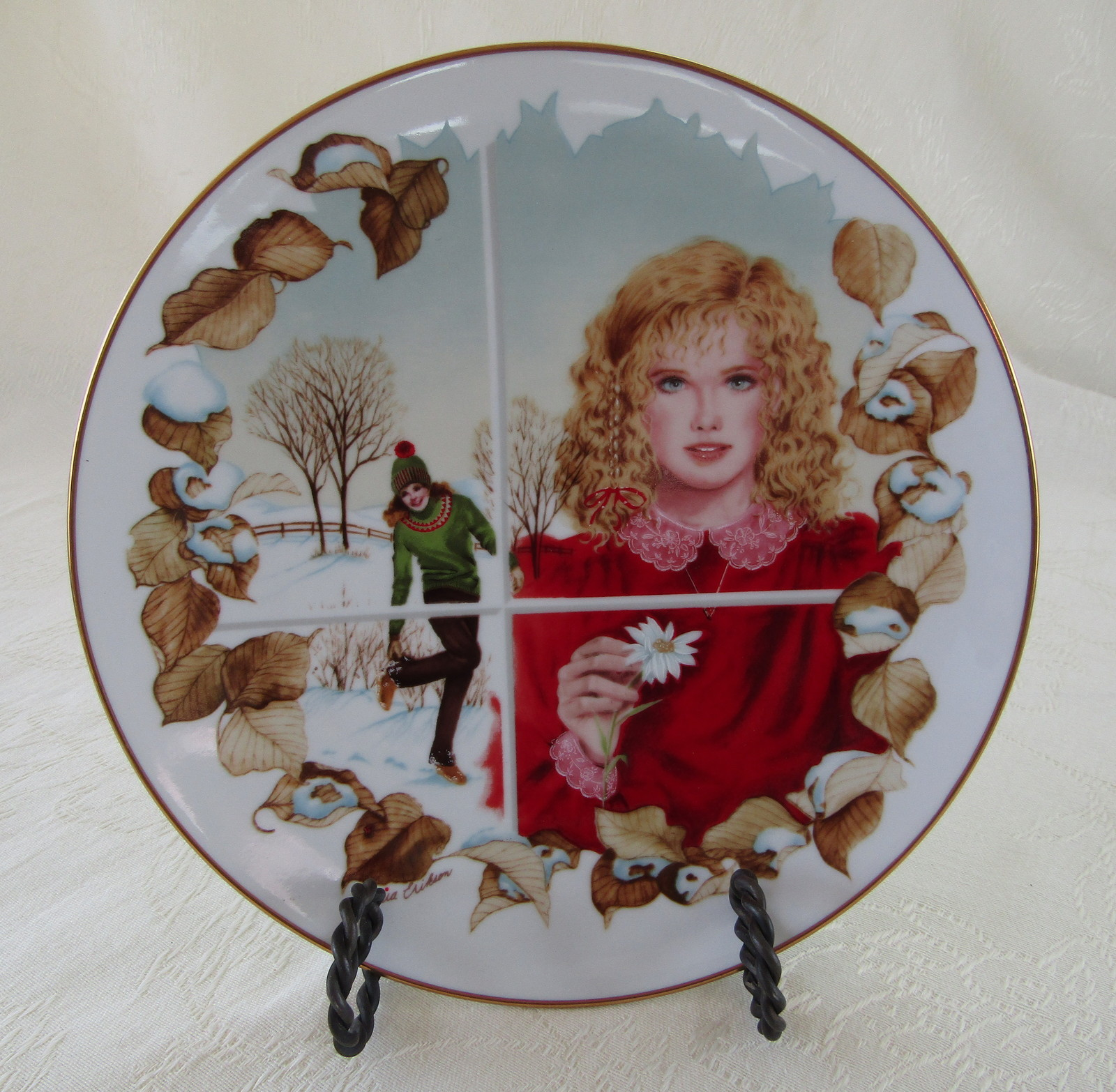 Collector Plate, Winter's Dream by Artist Gloria Eriksen, American Legacy Ltd.