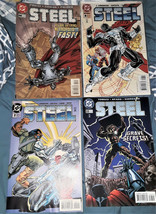 "4 DC COMIC BOOKS-""STEEL""-#2/#8/#33/#44-DATED:1990'S - $2.97"