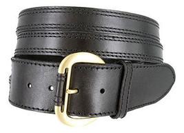 "Vintage Fashion Solid leather Crossing X Jean Belt 1-7/8"" Wide - $11.67"
