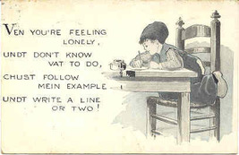 Ven You Are Lonely Write a Line or Two 1927 Post Card - $3.00