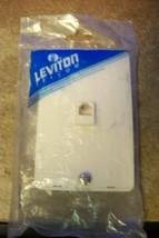 NEW Leviton 40214-00A 4C 1-Gang Screw Terminal Wall Plate, Almond - $2.48