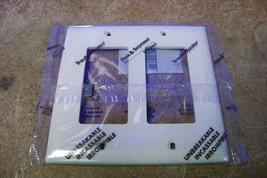NEW Pass & Seymour Legrand TP262-LA 2-Gang Decora Wall Plate Light Almond - $2.96