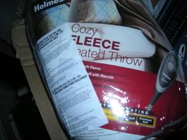NEW HOLMES HEATED BLANKET THROW MUSHROOM TAN 50 X 60  - $50.00