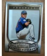 JEREMY PAPELBON RC 2007 BOWMAN STERLING PROSPECT ROOKIE CARD PSA10?CUBS ... - $9.85