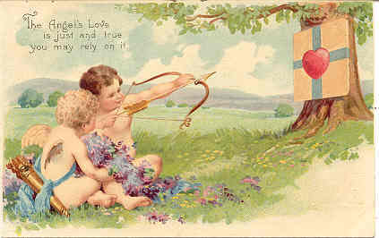 Primary image for The Angels Love Is True vintage 1906  Post Card