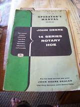 VTG JOHN DEERE 14 SERIES ROTARY HOE OPERATOR MANUAL - $14.84