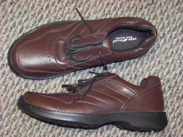 mens deer stags walkmaster brown lace up shoes size 13 3e - $25.83