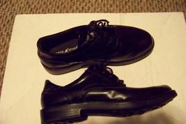 mens deer stags s.u.p.r.o. shock black lace shoes size 6 1/2 - $19.79