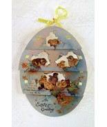 Card, Easter Greetings, Decorative Diecut Tiered Victorian Reproduction,... - $3.00