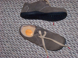 womens dexter brown suede leather lace shoes size 6 1/2 - $22.76