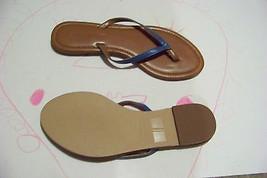 9df634be0d0981 womens colin stuart blue flip flops sandals shoes size 7 -  18.80