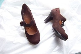3374e4a12c womens jaclyn smith alaina brown faux suede mary jane heels shoes size 6 -  $18.80