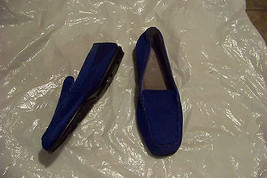 womens aerosoles web browser blue fabric slip on loafers shoes size 9 - $18.79