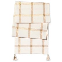 Threshold Gold Plaid Cotton Tablecloth (Table Runner) [Kitchen] - $29.65