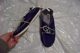 new womens olukai blue fabric dock shoes size 7 - $80.17