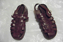 womens dansko brown leather multi weaved strappy sandals shoes size 42 1... - $42.56