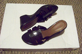 womens dexter brown strappy wedge heels shoes size 8 - $20.78