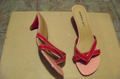 aa6cc507a77 womens madden girl brisk red strappy heels and 36 similar items