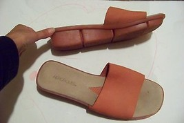 womens aerosoles pink tone suede leather wide band wedge sandals shoes s... - $20.78