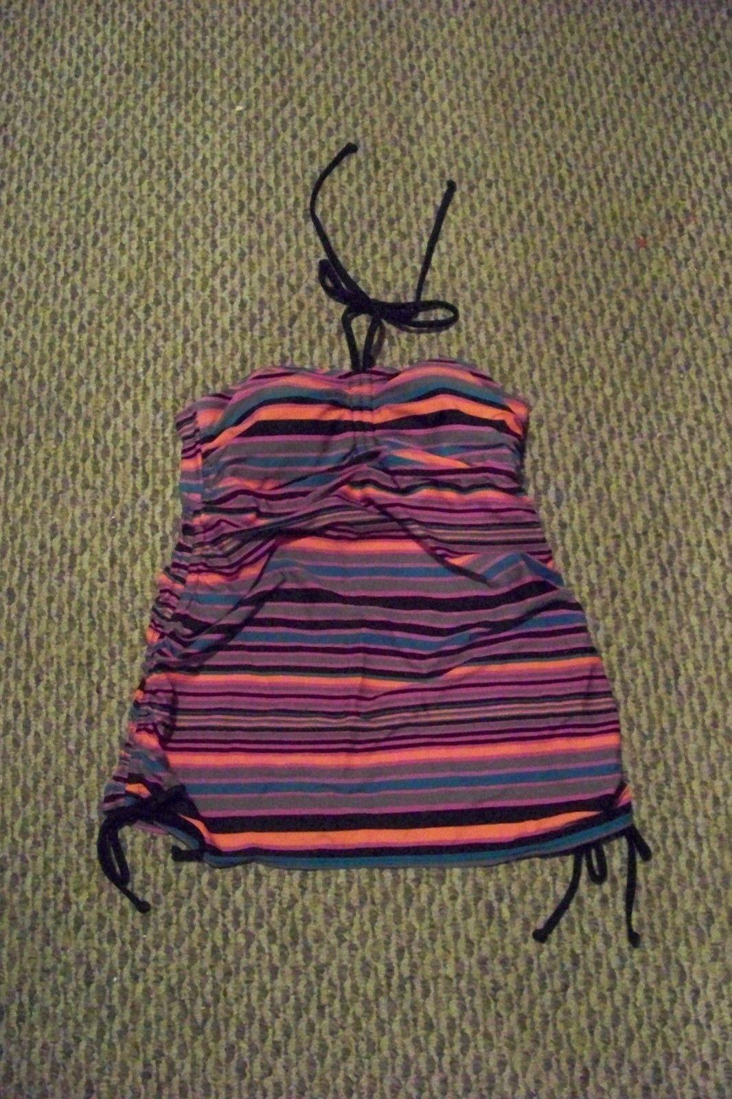 47e54b1f62 S l1600. S l1600. new womens liz lange maternity multi color striped tankini  swimsuit top size sm