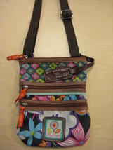Lily Bloom Cross body Triple Section Bag - $20.00