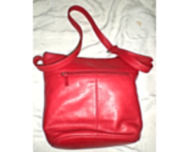 Stone Mountain Red Leather Bag - $19.95