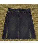 womens american eagle faded medium wash denim jeans skirt size 8 31 - $16.82