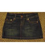 womens american eagle faded dark wash denim jeans skirt 2 29 - $16.82