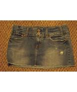 womens american eagle faded distressed frayed medium wash denim jeans sk... - $16.82