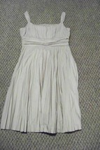 womens ak anne klein beige accordion pleat  knee length dress size 10 - $26.72