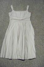 womens ak anne klein beige accordion pleat  knee length dress size 10 - $26.72