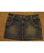 womens american eagle faded medium wash denim jeans skirt 6 30 - $16.82
