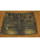 womens american eagle outfitters faded medium wash denim jeans skirt siz... - $16.82